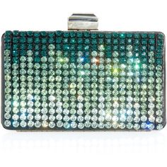 Lanvin Crystal Embellished Box Clutch (53.560 RUB) ❤ liked on Polyvore featuring bags, handbags, clutches, purses, bolsas, strap purse, clasp purse, sequin handbags, green clutches and man bag