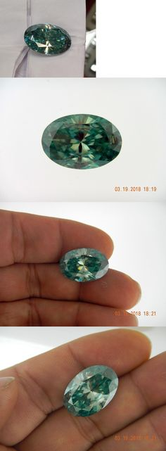 Synthetic Moissanite 110800: 14Ct Blue Green Color Loose Oval Moissanite Beautiful -> BUY IT NOW ONLY: $139.99 on eBay!