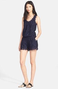 Joie 'Jardeene' Lace Romper available at #Nordstrom