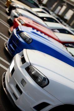 R34 Skyline GTR's...