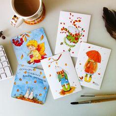 «Доброе утро)) Набор осенних открыток в хорошие руки)) 200р плюс пересылка  В группе  вы найдете всю информацию о заказе открыток)))) #открытки…»