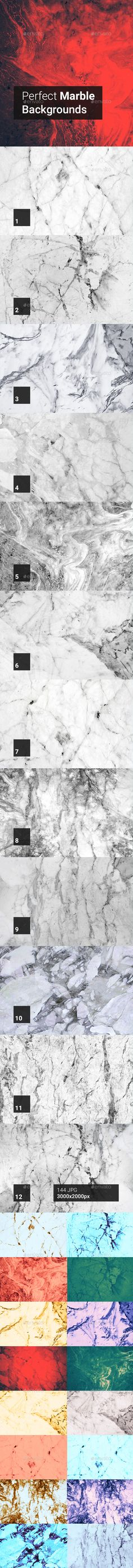 144 Perfect Marble Backgrounds by kauster- 144 Perfect Marble Backgrounds This pack includes 144 Perfect Marble Backgrounds. Suitable for printing, web design, banners, post