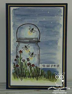 The Crafty Owl | Jar of Love Light-Up Fireflies Card Stampin Up, Mason Jar Cards, Karten Diy, Bee Cards, Love Stamps, Stamping Up Cards, Arte Floral, Watercolor Cards, Creative Cards