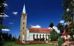 POL Mikolajki 02 - Mikołajki – Wikipedia, wolna encyklopedia kościół ewangelicki pw św trójcy