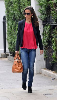 Love Pippa's look! Red top for fall?