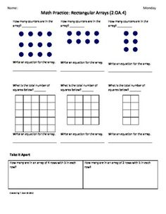 Worksheets Second Grade Math Worksheets Common Core math grade 2 and expressions on pinterest oa 4 2nd common core worksheets rectangular array