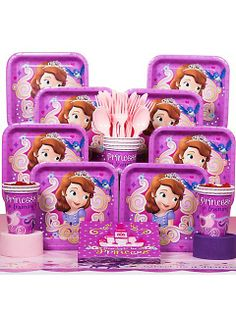 Has she always dreamed of having a Sofia the First party? Wholesale Party Supplies has everything you need to make this happen, such as our Sofia the First Party Ideas. Princess Sofia Birthday, Sofia The First Birthday Party, 1st Birthday Party Supplies, 4th Birthday Parties, Birthday Fun, Princess Theme, Birthday Ideas, Princess Sophia, Husband Birthday
