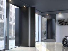 Pivot Türen | Pivot Doors, Entry Doors, Aluminium Doors, Door Design, Facade, Blinds, Zen, Curtains, Mirror