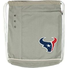 """Littlearth Houston Texans Old School Cinch Bag by Little Earth Productions. $24.99. Cushioned straps Decorative grommets Contrast stitching. Cinch bag. Made from durable 8-oz canvas fabric. Dimensions: 13"""" x 14"""" Officially licensed. NFL® team logo embroidered on frontExterior zippered pocket. This Littlearth® Old School cinch bag has the understated style you want with a little extra football flair thrown in just for kicks! An embroidered NFL® team logo decorates the front, ..."""