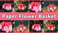 Step By Step Kusudama Flower Tutorial - Karen Monica How To Make Paper Flowers, Giant Paper Flowers, Diy Paper, Paper Crafts, Fluffy Cupcakes, Basket Crafts, Paper Flower Tutorial, Paper Craft Supplies, Paper Basket