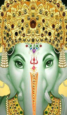 Damien gently opened the nursery door. He and his friend walked into… Lord Ganesha Paintings, Ganesha Art, Ganesh Images, Ganesha Pictures, Om Gam Ganapataye Namaha, Yashoda Krishna, Elephant Artwork, Sri Ganesh, Lord Vishnu Wallpapers