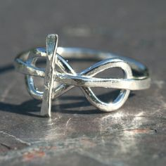 Cross Infinity Eternity Ring Faith Jewelry by MaggieMcManeDesigns, $46.00