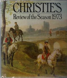 """Included are articles entitled """"A Newly Discovered David Crucifixion"""" and """"Canaletto's """"Campidoglio"""". Hundreds of superb color ills. present the most important works of art sold by Christie's in the 1973 season. Manuscripts by living authors. - See more at: http://www.hillcountrybooks.com/si/3-4-1505.html#sthash.UDi1HUiT.dpuf"""