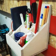 My French Cleat Holder for pens and small items # Holzwurmjaeger # holzwurmjäg