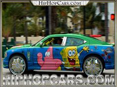 Pimped out themed cars, Cars with wild candy themes, tv show and product themes even store themes on these cars. The south has taken the pimped-out car game . Pimped Out Cars, Ghetto Humor, Candy Car, Donk Cars, Oldsmobile Toronado, Spongebob Patrick, Custom Sport Bikes, Old School Cars, Love N Hip Hop