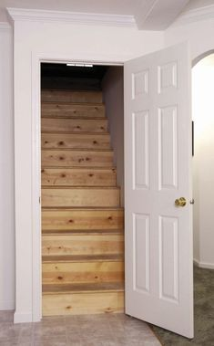 Attic Stairs & Colony Homes Source by atofiqolu The post Attic Stairs Attic Staircase, Loft Stairs, Basement Stairs, House Stairs, Stairs Into Attic, Attic Loft, Loft Room, Attic Rooms, Attic Spaces