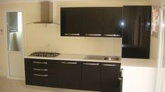 Mobila Bucatarie cu usi mdf infoliat negru lucios Kitchen Cabinets, Home Decor, Decoration Home, Room Decor, Cabinets, Home Interior Design, Dressers, Home Decoration, Kitchen Cupboards