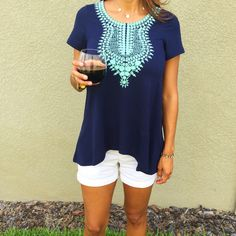 Stitch Fix THML Kahlo Short Sleeve Top - LOVE this shirt! One of my faves <3