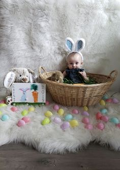 Baby's first Easter photo shoot,