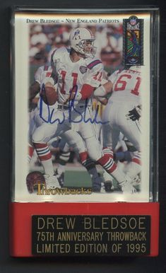 2a849c41d1e 1995 Classic Experience Throwback Drew Bledsoe Patriots Signed AUTO /1995  #FootballCards. Jim Link · NFL
