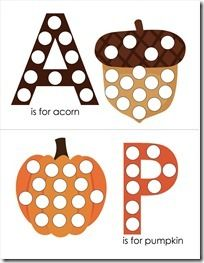 Fall Letter Activity /Magnetic Pages