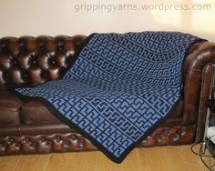 Rhapsody Afghan – Intermeshing Crochet – Double Filet Crochet – Interlocking crochet