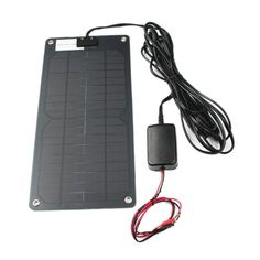 • 12 volt/7.5 watt solar charger and maintainer • Panel has 4 reinforced mounting holes • 16 ft. 6 in. of cord from panel terminated with quick connect S connector • Charge controller with quick connect on one end; other end has 46 in. ring connector for connection to battery • Total length of cord is 20 ft. 4 in.; Solar Battery Charger, Portable Battery, Blue Crab Trap, Bluetooth Surround Sound, Computer Cart, Subwoofer Speaker, Lead Acid Battery, Go Shopping, Solar Power