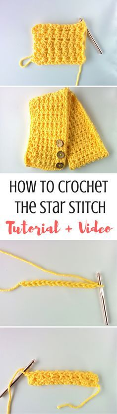 This start stitch is so easy and looks to cool!! A fun way to add some interest to a simple scarf