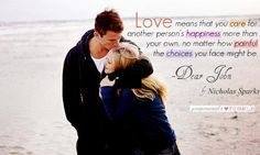Love this quote from Dear John <3
