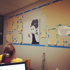 Gallery wall Part I. It's happening. #zesty