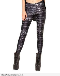 This Is Why I'm Fabulous   Musical Notes Printed Leggings - http://www.thisiswhyimfabulous.com/leggings/musical-notes-printed-leggings