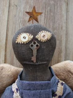 My collection - Mr. Clovis - Primitive Angel Doll