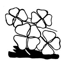 Four Leaf Clovers Decoration For St Patricks Day Coloring Page - Download & Print Online Coloring Pages for Free | Color Nimbus Online Coloring Pages, Four Leaf Clover, Have Some Fun, More Pictures, St Patricks Day, Decoration, Free, Decor, Decorations
