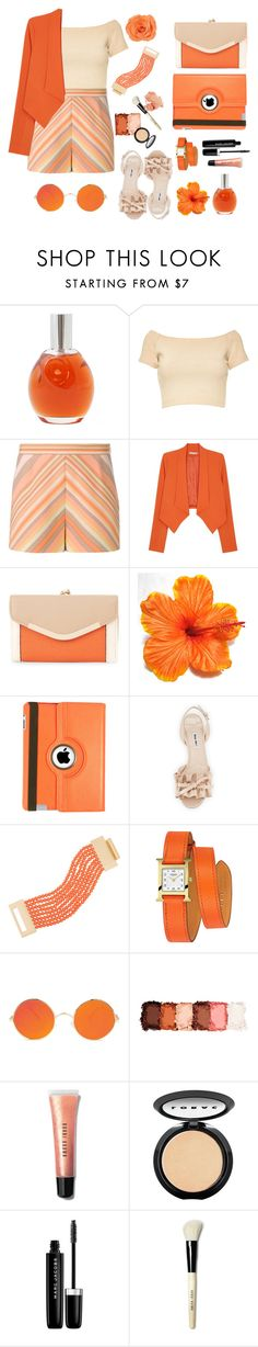 """""""#45"""" by melissious ❤ liked on Polyvore featuring Chloé, Alice + Olivia, Valentino, New Look, Natico, Miu Miu, Kenneth Jay Lane, Hermès, NYX and Bobbi Brown Cosmetics"""