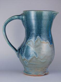 Ceramic Pitcher OOAK pottery keramic kitchen by jburkepottery, $80.00