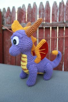 Crochet Pattern: Spyro and Ember Inspired Dragon by MilesofCrochet