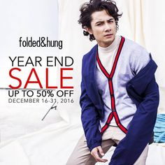 Check out Folded&Hung Year End Sale!  Score up to 50% OFF on great selection of fashionable items!  Visit Folded&Hung Stores and have a happy holiday shopping with your friends and loved ones!  Promo available until December 31, 2016.  For more promo deals, VISIT http://mypromo.com.ph/! SUBSCRIPTION IS FREE! Please SHARE MyPromo Online Page to your friends to enjoy promo deals!
