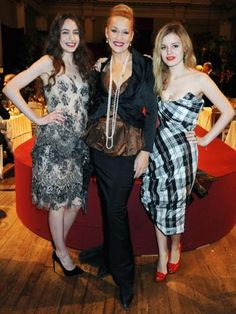 Elizabeth Jagger, Georgia May Jagger and Jerry Hall    With matching pillar-box red lips the Jagger girls and their mum Jerry effortlessly dress their model-perfect figures with flawless fashion. No doubt the girls stole some tips from their style-savvy former model mum