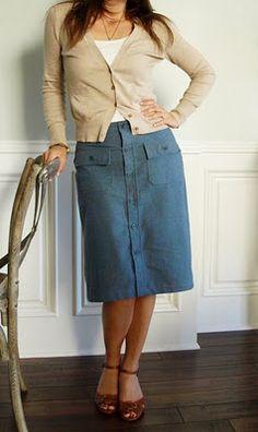Men's Shirt to Ladies' Skirt #DIY