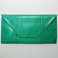 Green Pattern Clutch Bag / 206039