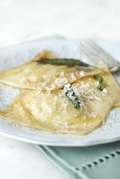 Letizia Golosa: Artichoke and Mascarpone Ravioli with Brown Butter and Sage Sauce