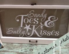 sandy toes and salty kisses wall quote decal by SouthernRealm