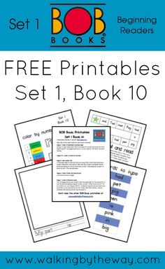 FREE BOB Book Printables for Set 1 Book 10 from Walking by the Way