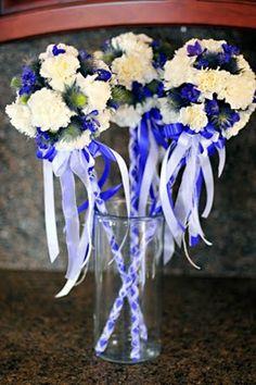 Floral flower girl wands