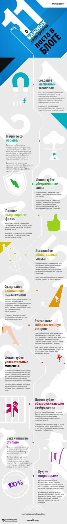 контент, маркетинг, контент-маркетинг, копирайтинг, пост, блог, советы блоггеру, 11 советов, инфографика