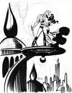 Darwyn Cooke & Bruce Timm — Flash Gordon by Bruce Timm Bruce Timm, Flash Gordon Comic, Harley Quinn, Dc Comics, Alex Toth, Batman, Wow Art, Classic Comics, Weird Art