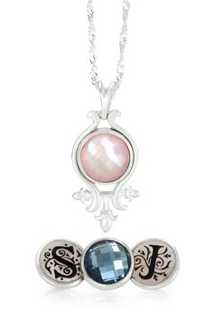 """Kameleon Jewelry® is the perfect choice when looking for extra special bridal party gifts. Personalize any Sterling Silver Kameleon Jewelry® piece with JewelPops™ to coordinate with wedding colors and/or the initials of each bridesmaid. With over 350 JewelPops™ to choose from, the """"poppibilities"""" are endless.   Suggested Retail Price: Pendant $49 JewelPops™ $34 each"""