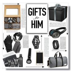 """Gifts for Him"" by keri-cruz ❤ liked on Polyvore featuring Clinique, Bose, Herschel Supply Co., The Tie Bar, The North Face, Invicta, Fitbit and Denis Colomb"