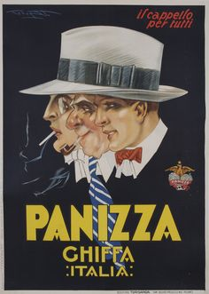 Panizza Chiffa Italia. A hat for everyone.  The venerable Panizza factory closed in the 1980s.