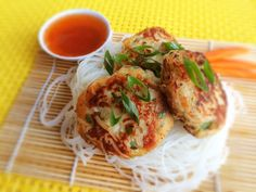 Gluten Free Fish and Noodle Cakes